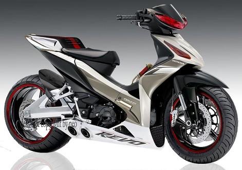 Gambar modifikasi motor Honda Revo 100cc Terbaru Keren dan Good  title=