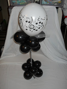 Table Centerpiece - Music Note theme