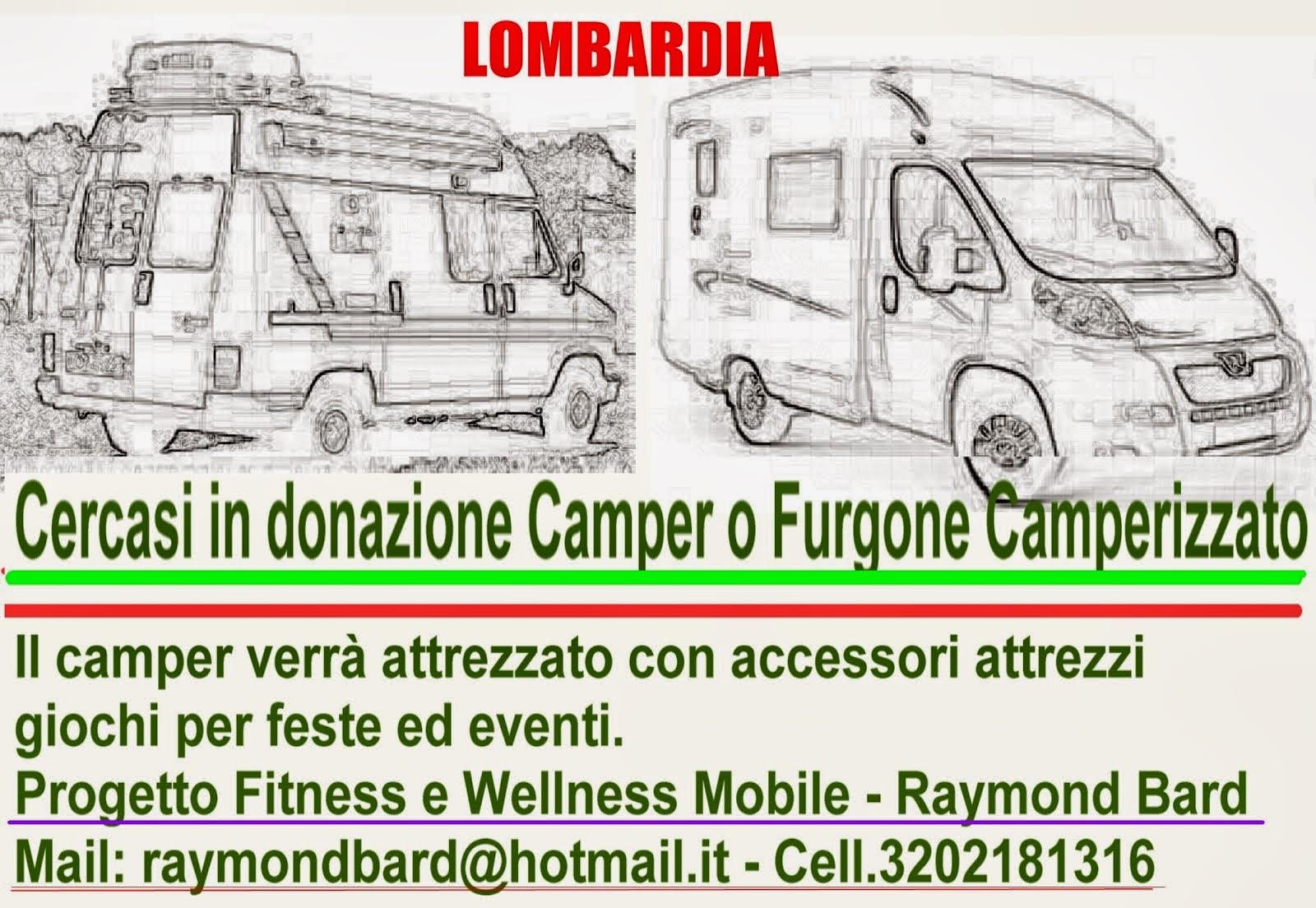 Cerco Camper in donazione o in comodato d'uso