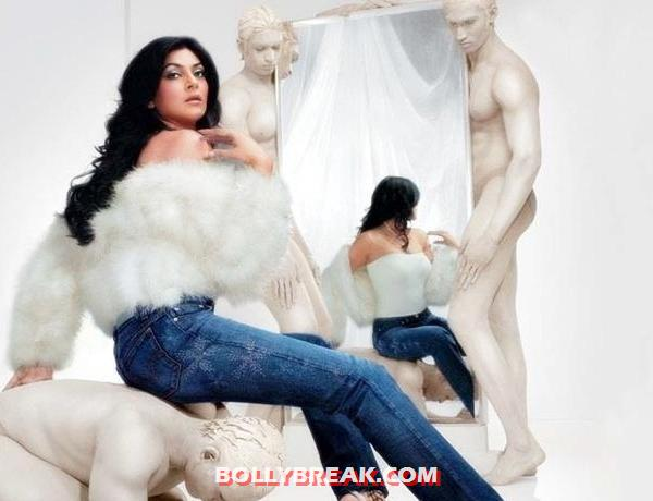 sushmita sen photo shoot for levis diva jeans - (5) - Bollywood actresses who dared to pose with naked men