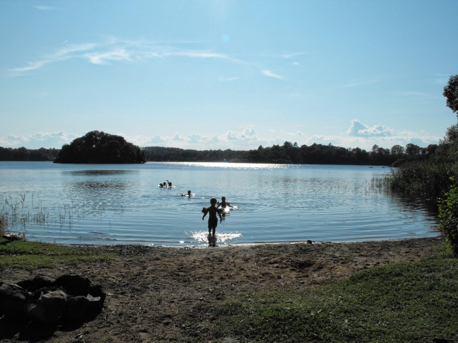 Bada, Sommar, Badsjö, insjö, vacker natur, Sösdala, Hörby, Kvesarumssjön, Kvesarum