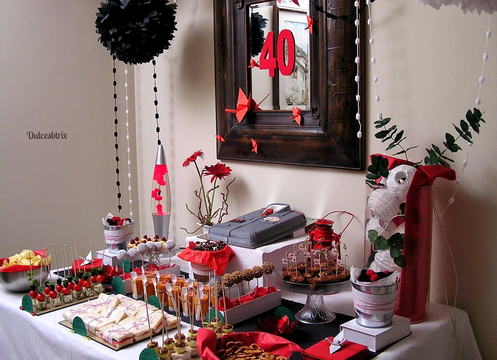 Dulces btrix mesa dulce rojo y negro for Mesas dulces cumpleanos