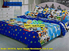 Harga Sprei Single Doraemon 120 X 200 Jual