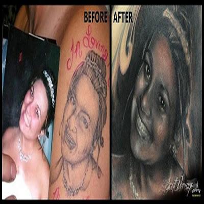 Artista conserta 'pior tatuagem do mundo' de graça