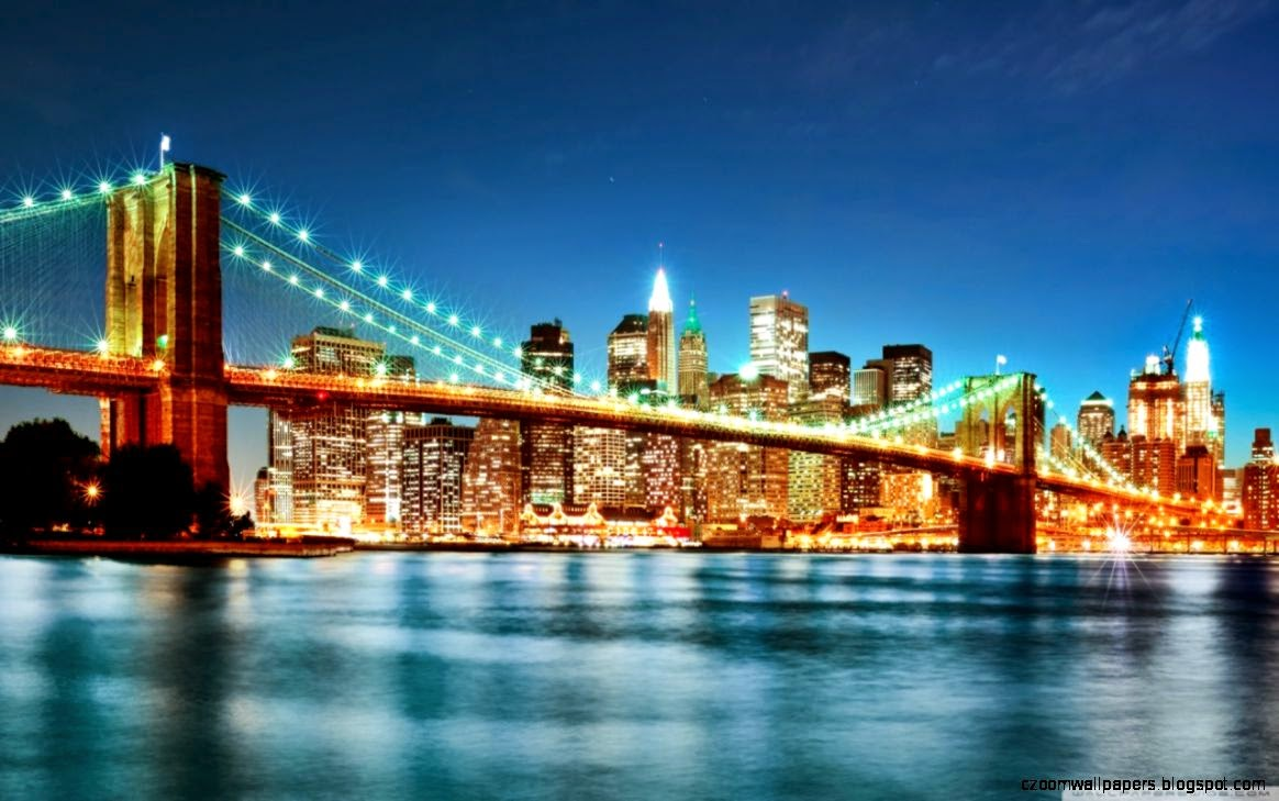 New York City Night Lights HD desktop wallpaper  High Definition