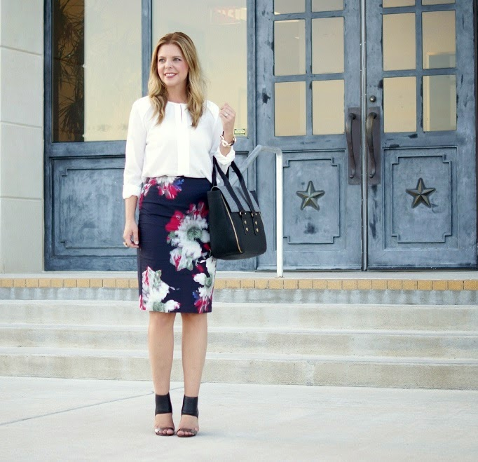French Connection Fall Floral Skirt