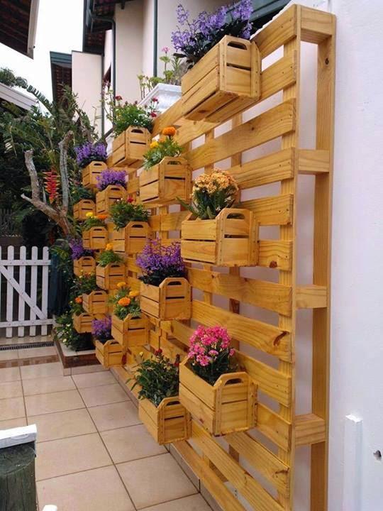 mini jardim reciclado:Jardim feito com pallets reciclados ~ Artesanato Reciclado
