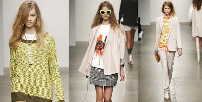 Karen Walker, Karen Walker style, New York style, designer, fashion week, fashion show, NYFW, patterns, prints and patterns, orange, sunglasses