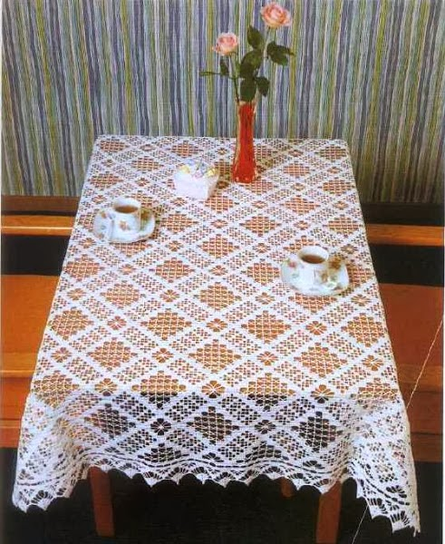 Crochet Tablecloth : Crochet: Tablecloths square and rectangular
