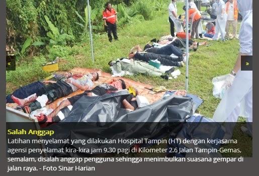 Latihan Menyelamat Kemalangan Mencemaskan Orang Ramai