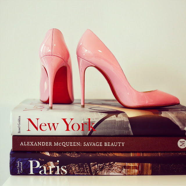 Christian Louboutin heels, taschen book, taschen new york book, taschen paris book, alexander Mcqeen savage beauty book, fashion blog