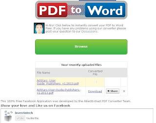 Cara mengkonvert file PDF ke WORD Online Via Facebook