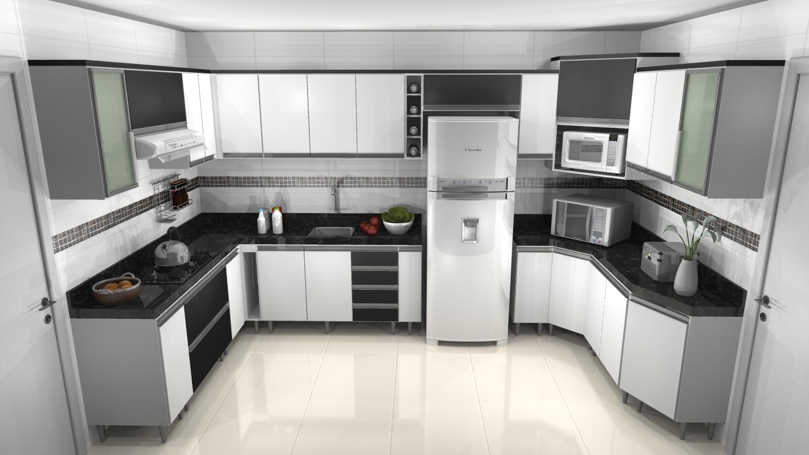 Cozinhas planejadas: Armários de cozinha Modelos lindos #5F4940 1600 900