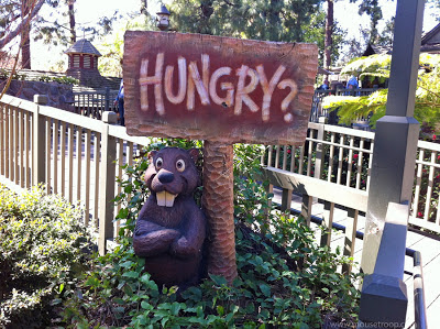 Disneyland Beaver statue Hungry Bear Restaraunt Critter Country