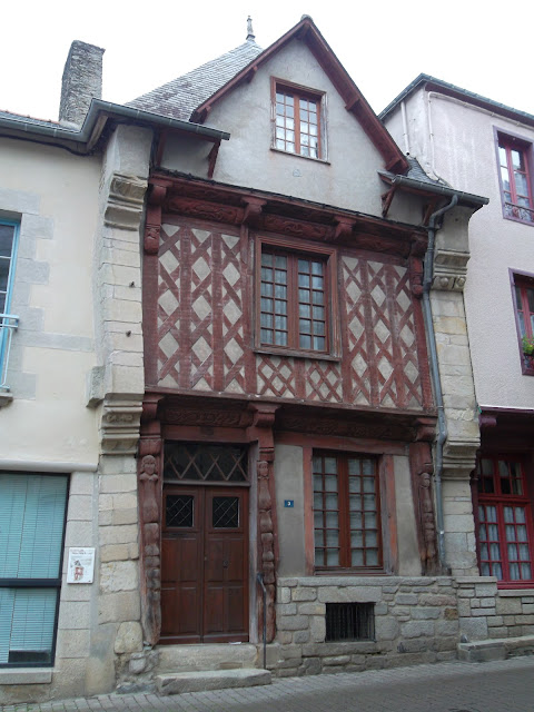 Maison 1538.  Oldest house in Josselin built in 1538. Traditional style.