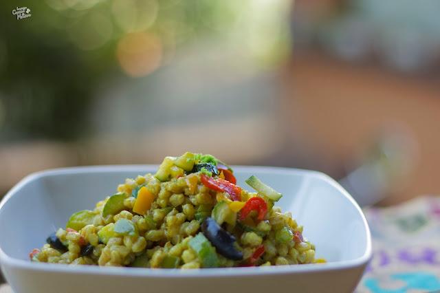 prima che finisca la stagione tiepida - farro speziato alle verdure & cosmofood
