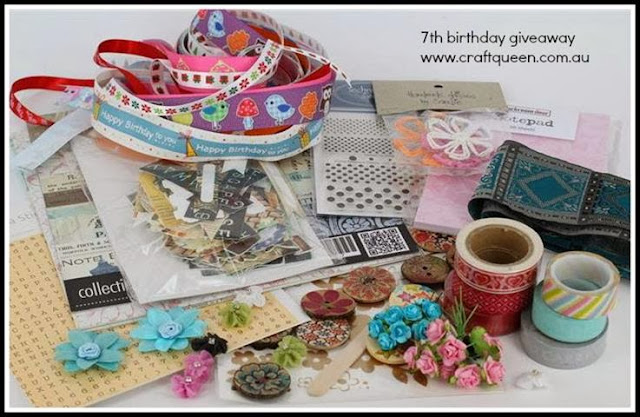 Craft Queen 7th Birthday Giveaway