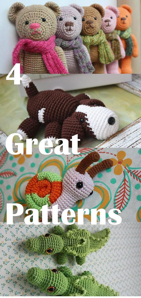 Amigurumi Crochet Tutorial : Happyamigurumi: 4 Amigurumi Patterns - Crochet PDF tutorials