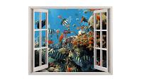 coral com peixes