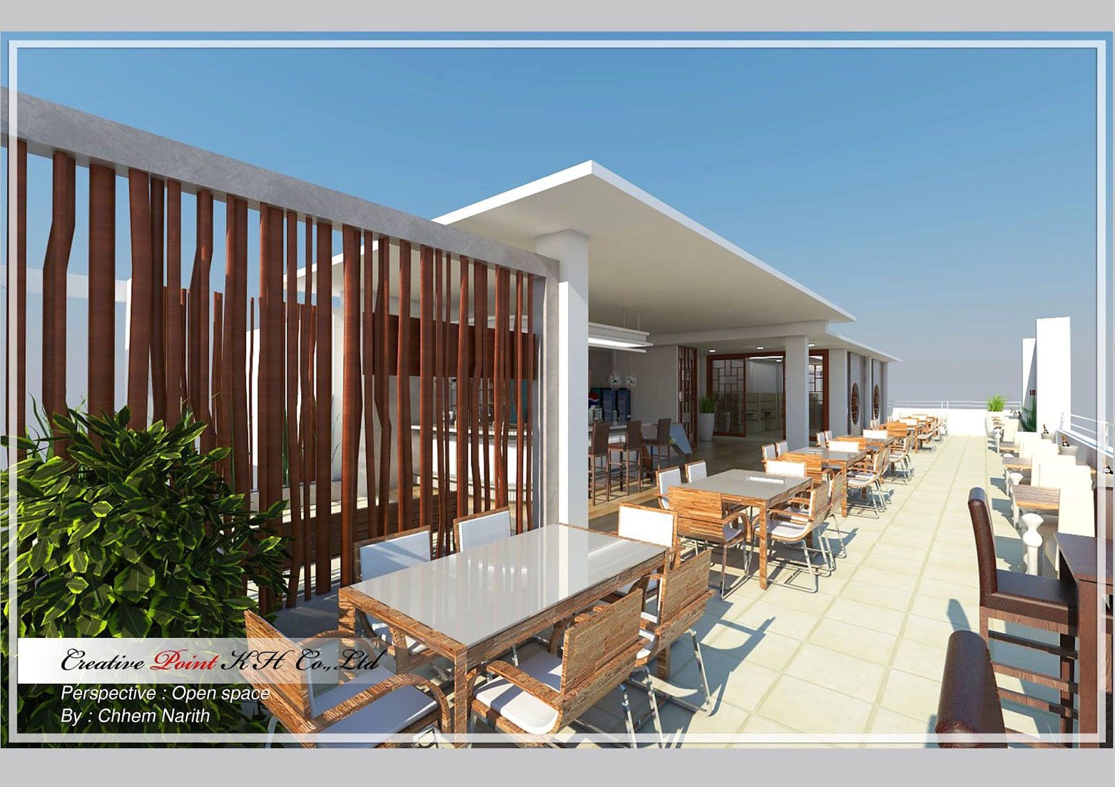 Restaurant design khmer sketchup