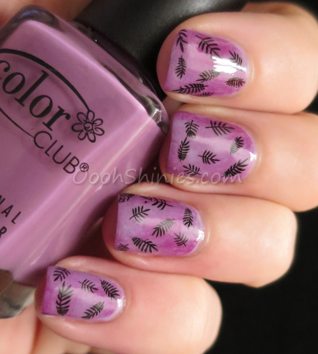 Essence No More Drama sponged with Essence Go Wild and Color Club Uptown Girl, with waterdecals from BornPrettyStore