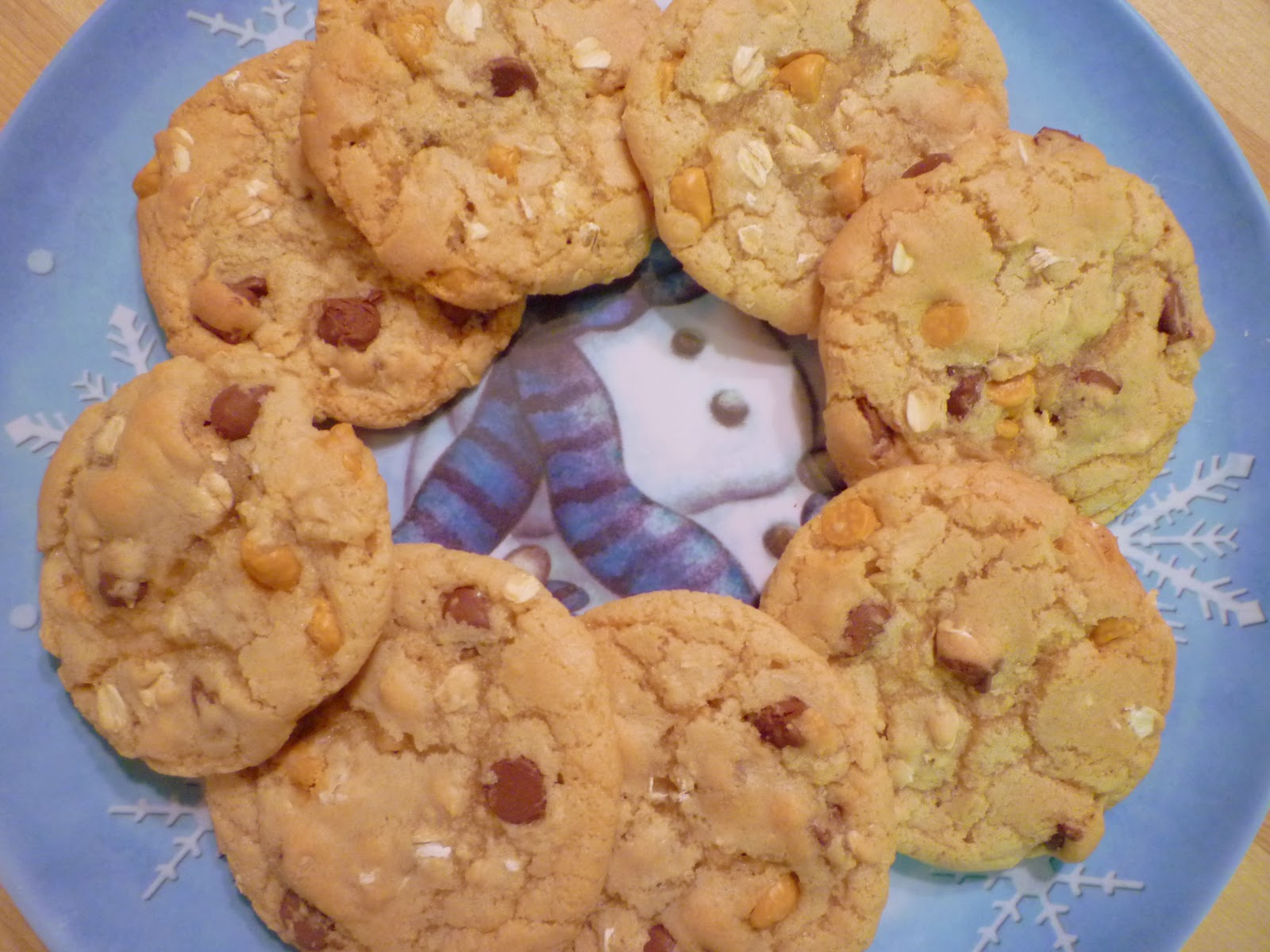 ... in the Barbershop?!: Oatmeal Butterscotch Chocolate Chip Cookies