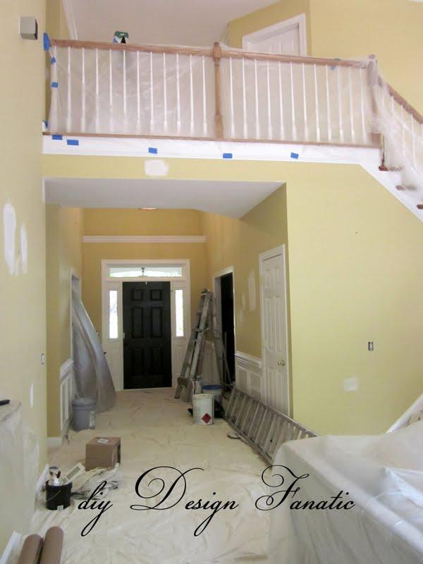 Large Foyer Window Treatment : Remodelaholic newly painted foyer