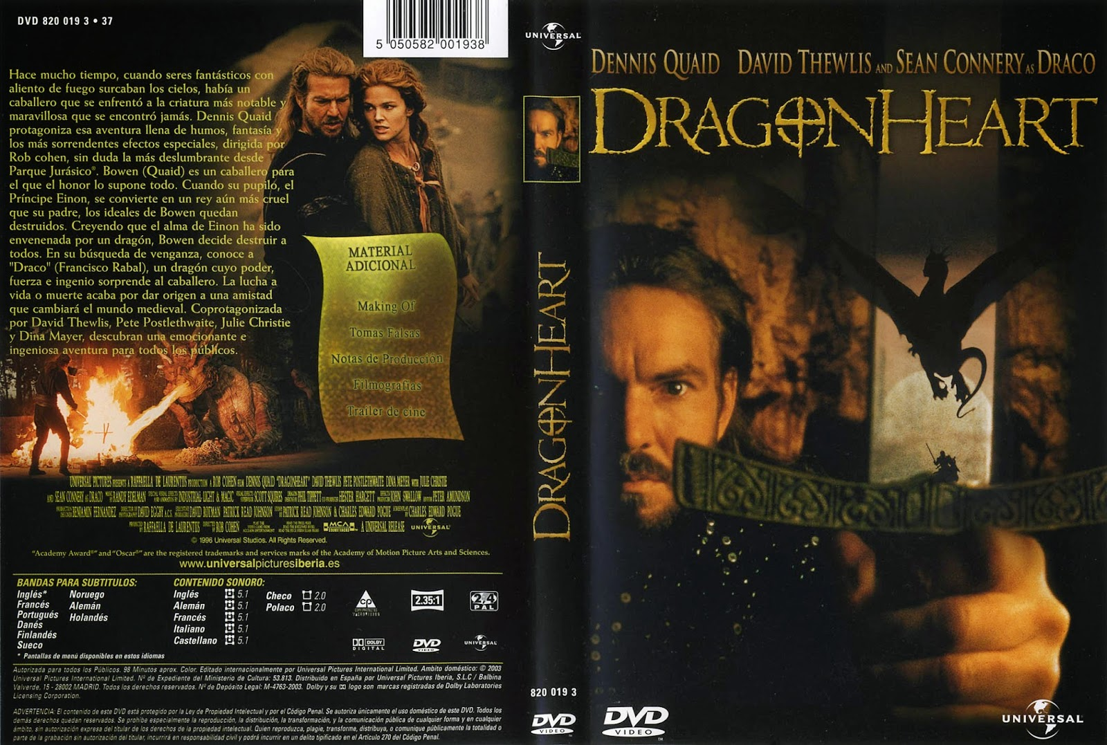 Dragonheart (Corazon de Dragon) DVD