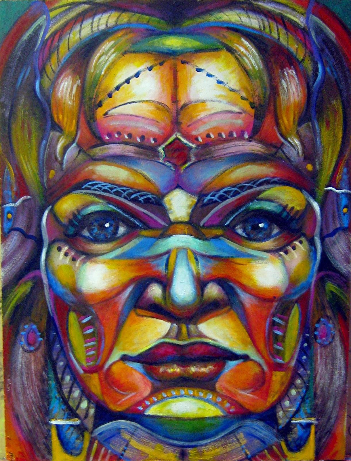 Pregunta, cuadro en acrílico sobre madera obra original de Juan Sánchez Sotelo de Artistas6 academia de dibujo y pintura de Madrid, clases y cursos para aprender a dibujar y pintar. Venta de  obra contemporánea abstracta y figurativa.