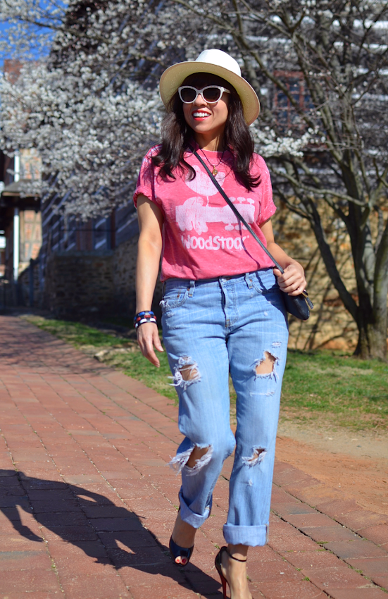 Levis 501 jeans with heels