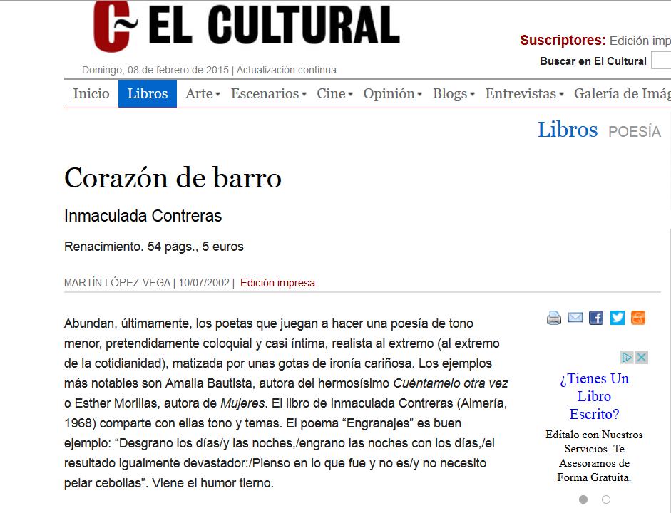 http://www.elcultural.es/revista/letras/Corazon-de-barro/5132