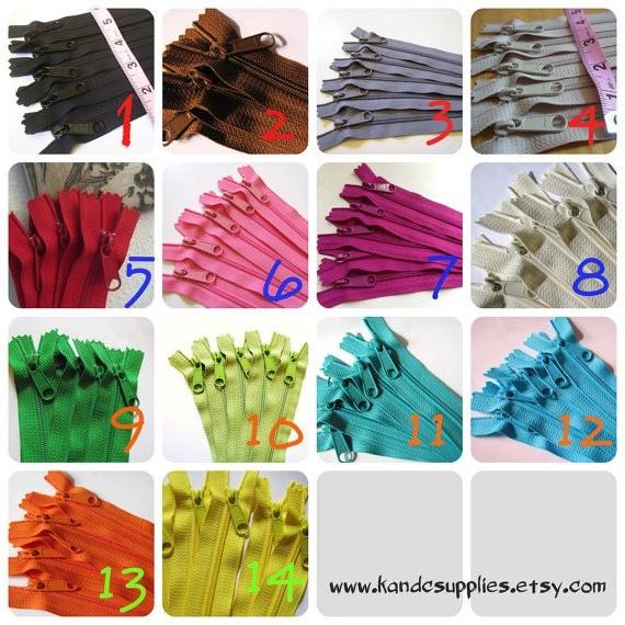 Zippers Ykk Zippers Color Chart