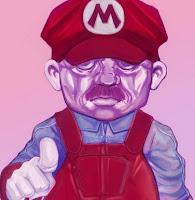 Ilustración de Mario Bros estilo Stalin