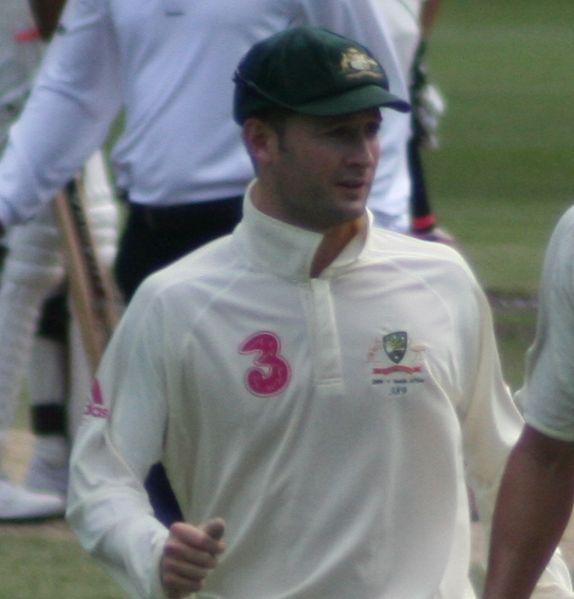 Michael Clarke in a test match