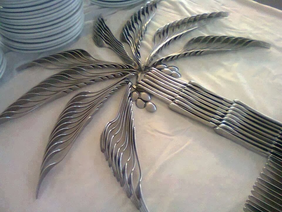 Cutlery Tree on Table