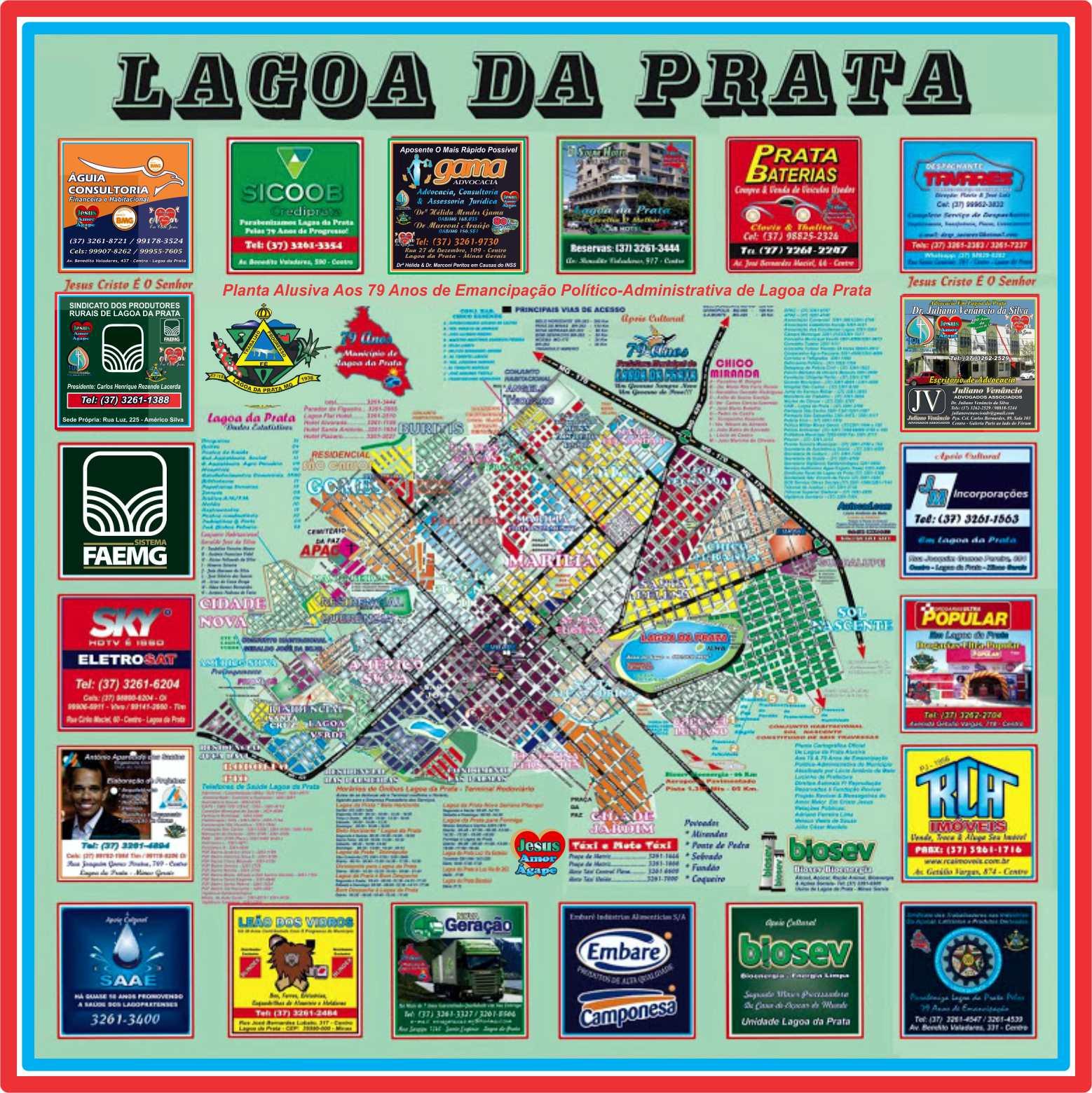 Planta Cartográfica de Lagoa da Prata 79 Anos de Emancipação
