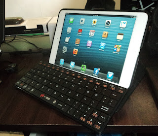 iPad mini with bluetooth keyboard