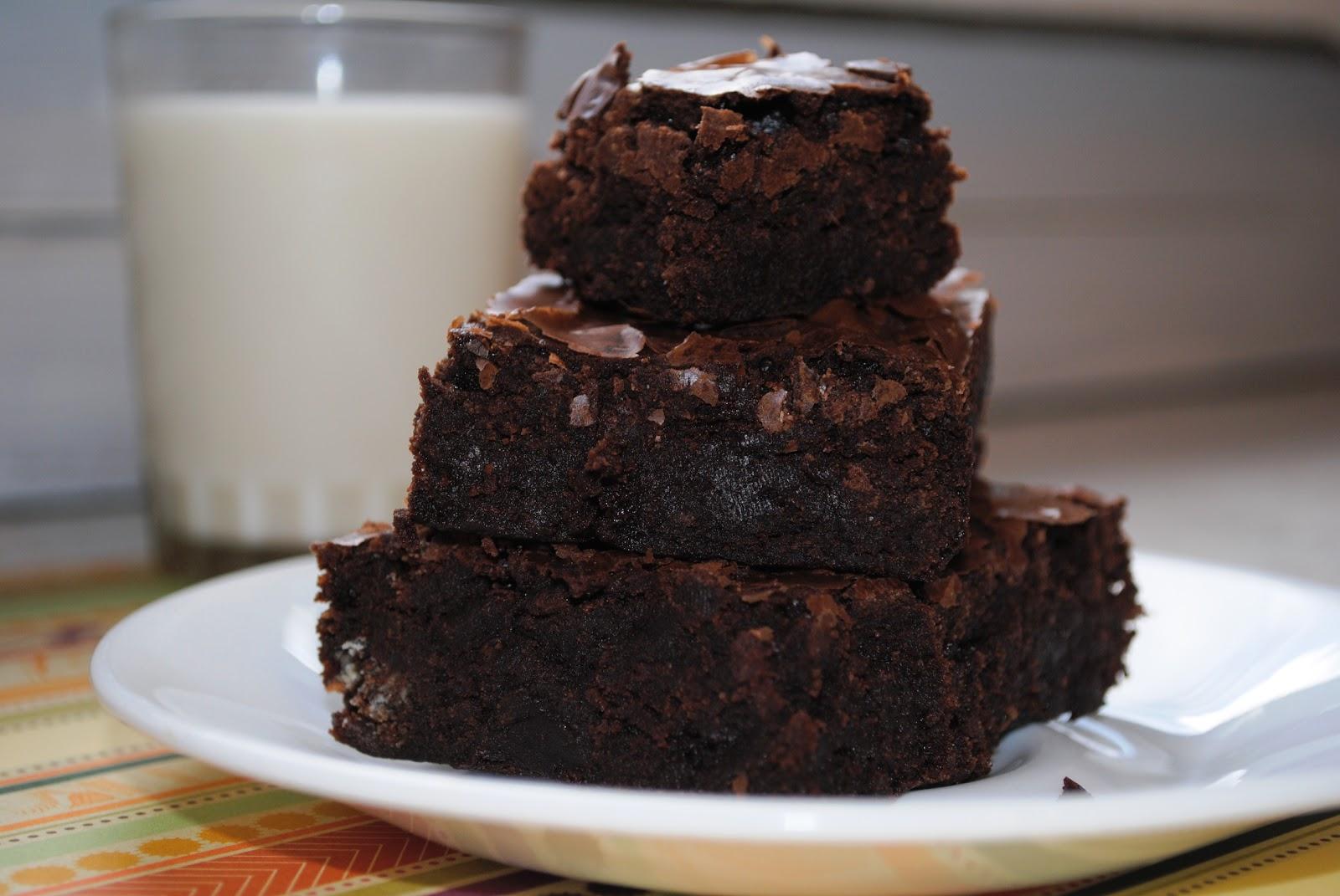 Triple Chocolate Brownies Recipe — Dishmaps