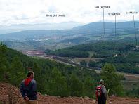 La vall de la riera de Rajadell des del Coll de Collbaix