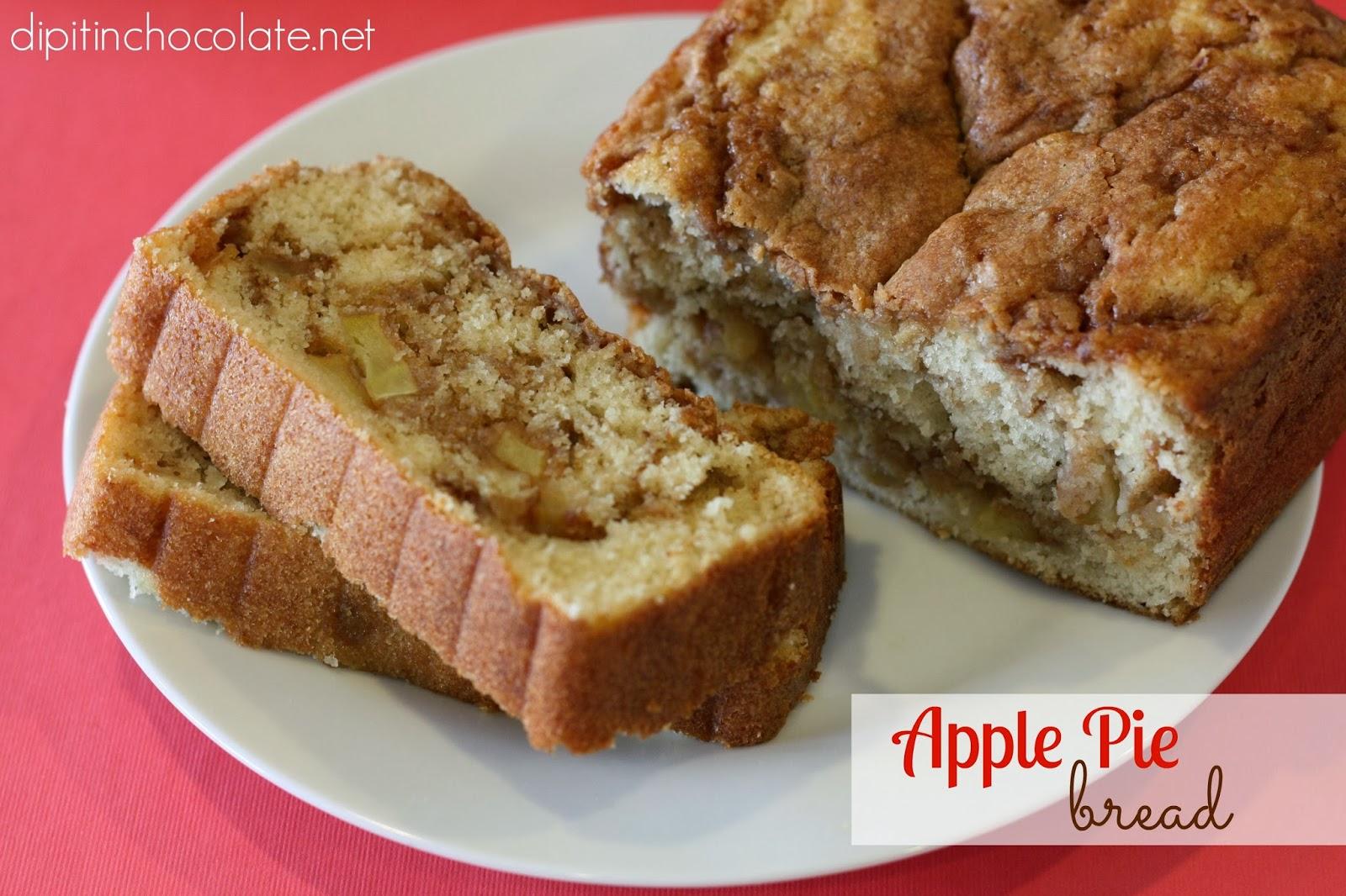 Apple Pie Bread ~ Dip it in Chocolate
