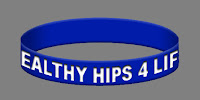 Free Healthy Hips Wristband - Hip Dysplasia Awareness
