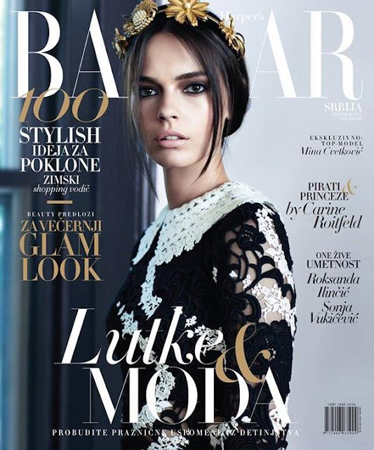 Fashion Model, @ Mina Cvetkovic for Harper's Bazaar Serbia, December 2015