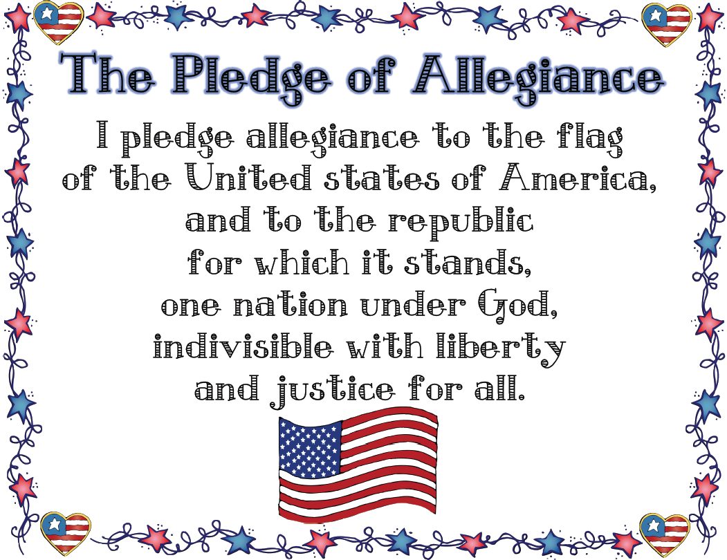 Sly image in pledge of allegiance printable