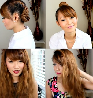 day to night crimps & waves hair style for girls