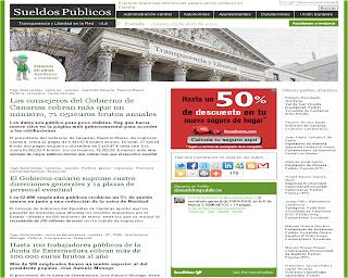 Diario digital que informa de los salarios de cargos electos en España