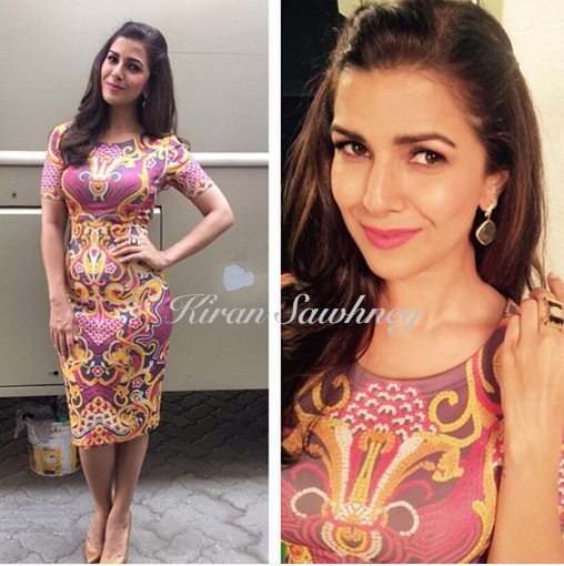 Nimrat Kaur in Pankaj and Nidhi dress