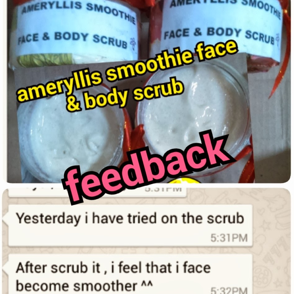 ameryllis smoothie scrub for face and body feedback