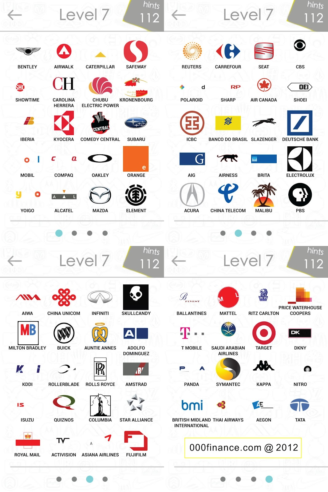 Brand Logos Quiz Answers Level 7