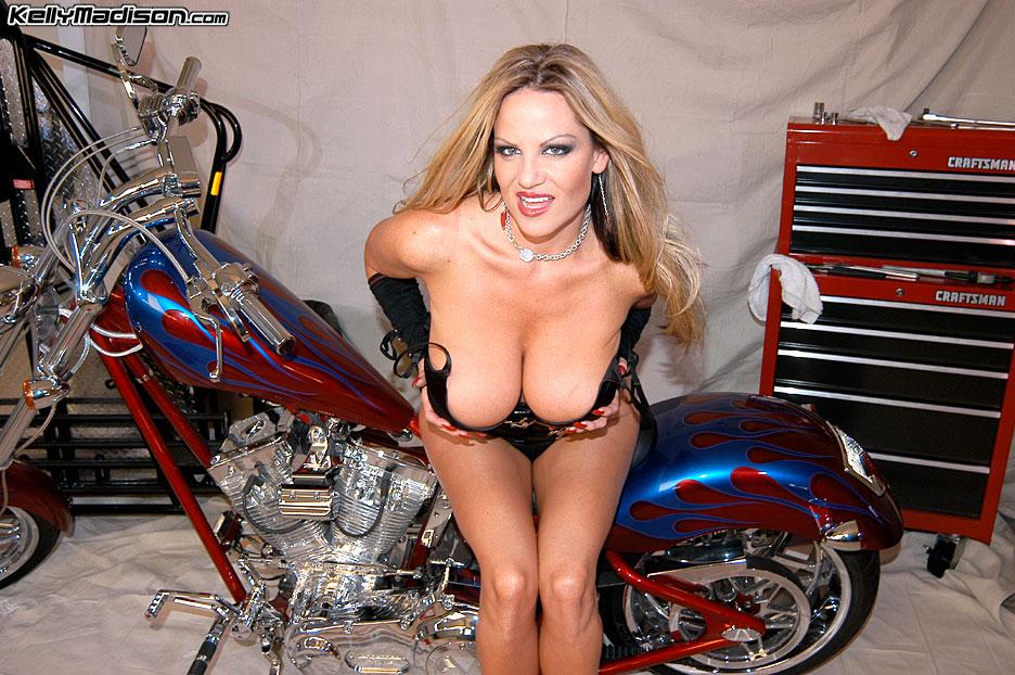 Madison babe kelly biker