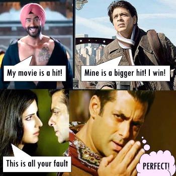 Katrina Kaif, Salman Khan, Ajay Devgn, Shahrukh